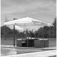 Telo per ombrellone da giardino 3x3 mt palo in alluminio