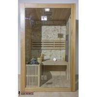 Cabina sauna finlandese in legno per tre persone