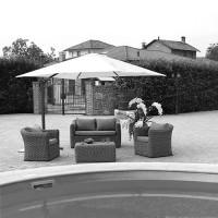 Telo per ombrellone da giardino 3x3 mt ruotabile a 360 gradi