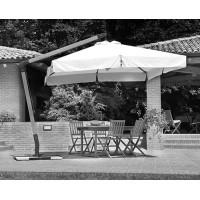 Telo per ombrellone da giardino a braccio in legno 3x4 mt, serie delux