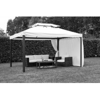 Telo per gazebo da giardino 4x3 mt in alluminio