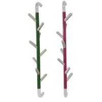Appendiabiti da parete in metallo Branch, ruotabile con braccetti