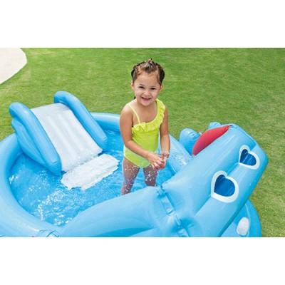 Gioco gonfiabile piscina intex hippo play center per for Gioco di piscine