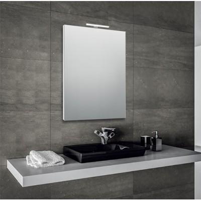 Specchio per bagno 60x80 cm con cornice e con lampada led in ...