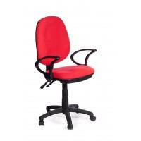 Sedia per ufficio direzionale in tessuto rosso Red Sofa