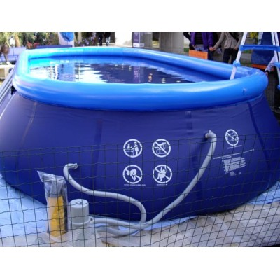 Piscina fuori terra gonfiabile 732x366x122 filtro e scaletta intex frame ovale ebay - Scaletta per piscina fuori terra ...
