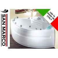 Vasca da bagno idromassaggio ad angolo 135x135 cm Sardone