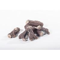 6 Tronchetti di legno decorativi per caminetti al bioetanolo