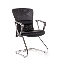 2 sedie per ufficio e sala attesa nere