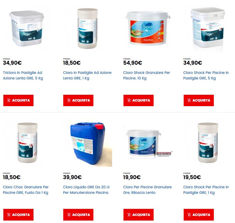 Cloro per piscine al miglior prezzo online for Cloro per piscine