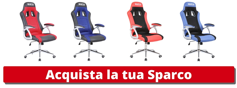 Eccellenza italiana e stile racing: poltrone da ufficio Sparco!