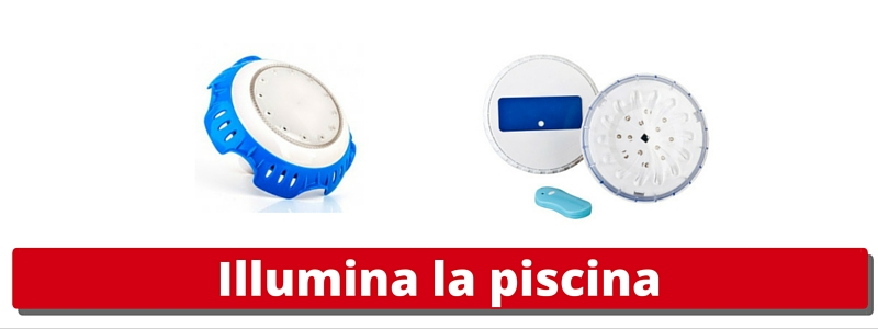 fari led piscina