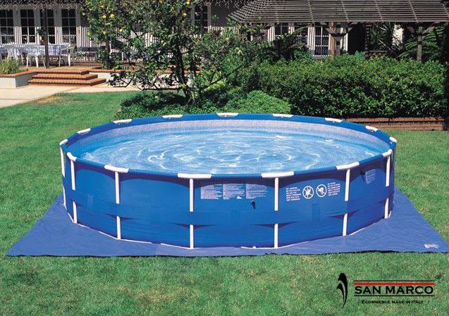 Piscina fuori terra intex metal frame rotonda 732x132 cm for Tappeto per piscina intex