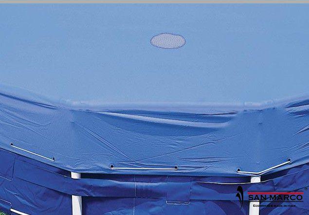 Piscina fuori terra intex metal frame rotonda 732x132 cm - Copertura invernale piscina intex ...