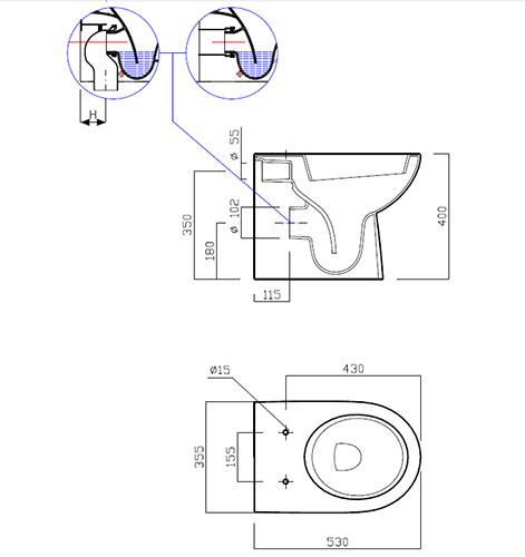 caratteristiche sanitari da appoggio pozzi ginori selnova 3 filoparete