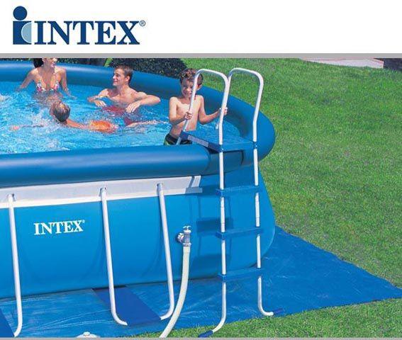 Piscina fuori terra intex oval frame 610x366x122 cm - Scaletta per piscina fuori terra ...