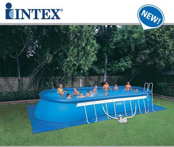 Piscina fuori terra intex oval frame 610x366x122 cm - Copertura invernale piscina intex ...