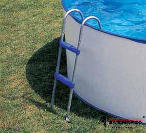 Piscina fuori terra gre lanzarote rotonda 350 cm san marco for Pool innenfolie 350x90