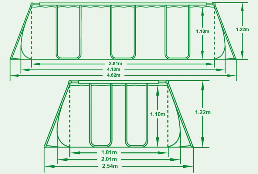 Piscina fuori terra bestway frame rettangolare 412x201x122 - Manutenzione piscina fuori terra bestway ...