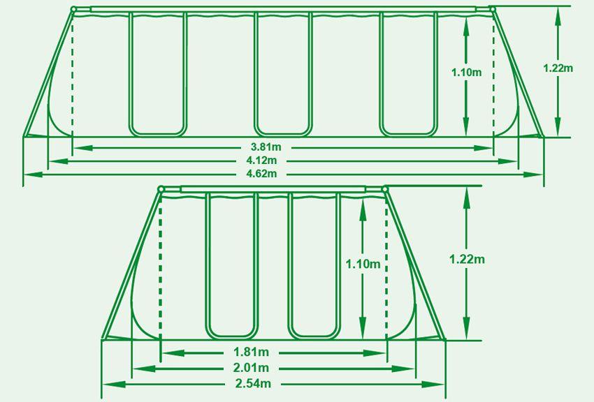 Piscina fuori terra bestway frame 412x201x122 cm san marco - Piscina san marco ...